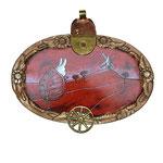 'Het konijn uit de kool', kunstwerk in opdracht, acryl en spuitbus op samengesteld  object