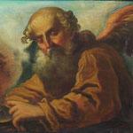 Maler des 18. Jahrhunderts, Bärtiger Engel mit Feuerschale, seltene Darstellung