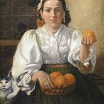 Italienische Orangenverkäuferin, Ölgemälde Ankauf, Verkauf & Versteigerung