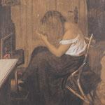 Alexander Desclabissac 'Mädchen bei der Toilette'