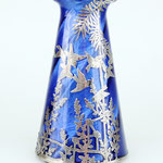 Jugenstil Vase mit Silber-Overlay, Loetz Witwe Böhmen