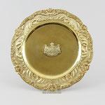 Silbertablett vergoldet, Königshaus Hannover 1839, Auktionslimit 1.500 €