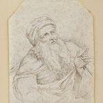 Goveart Flinck, Tuschzeichnung 'Bärtiger Mann' Nachlass des Malers Friedrich von Keller