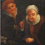 'Geldwechslerin mit Goldwaage' Ölgemälde des 17. Jahrhunderts