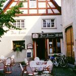 """In Mühlheim übernachten wir in der """"Linde""""."""