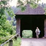 Donaubrücke - noch klein und hölzern