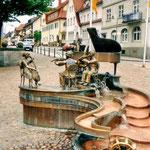 Der lustige Musikanten-Brunnen in Donaueschingen