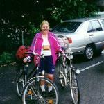 Start am 18. August 2000 mit 2 Fahrrädern und 2 Rucksäcken