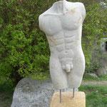 männlicher Torso 2014 Cottaer Sandstein ca. 75 cm