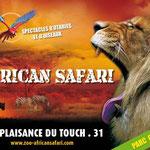 logo du zoo African Safari, à moins d'une heure des Gites des Camparros à Nailloux