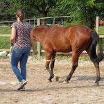 Figurenlaufen über die Körpersprache und Position