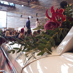 Blumenschmuck bei der Hochzeitsmesse