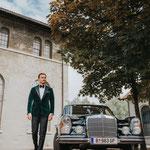 Hochzeitsauto - Ländlewedding