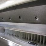 Papierschneidemaschine, Planschneider zum Beschnitt der Buchblocks