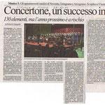 Il giornale di Vicenza su concerti Corale ed orchestra