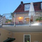 Edelstahl-Terrassengeländer mit Treppe und Treppengeländer