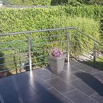 Edelstahl-Terrassengeländer mit Treppengeländer