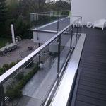 Terrassengeländer aus Edelstahl mit Glas