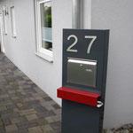 Briefkastenstele 150 x 50 cm mit Hausnummer 20 cm Größe