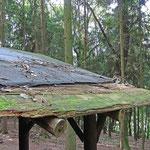 Das morsche Dach muss auch noch erneuert werden. Foto: B. Harwardt
