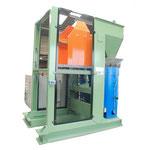 Basculeur hydraulique 135°, capacité 1000kg, alimentation container en hauteur, pour alimentation d'une essoreuse