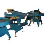 Poste de contrôle magnétoscopique avec tapis souples et tables tournantes