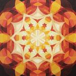 Stern der Weihnacht, Acryl auf Leinwand 50 x 50 cm, € 240,-