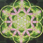 Herzblume, Acryl auf Leinwand 50 x 50 cm, € 250,-
