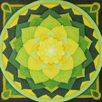 GrünerLotus, Acryl auf Leinwand 40 x 40 cm, € 150,-