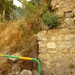 Etat du mur à l'ouverture de chantier