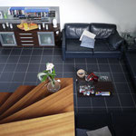 Blick ins Wohnzimmer · 1. OG · yak © 2012