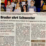 Kinderehrung Erksdorf