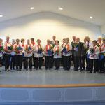 Ehrung für 40 Jahre aktives Singen