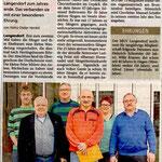 Ehrung am 21.12.2014 in Langendorf