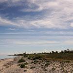Blick über den Strand zum Leuchtturm