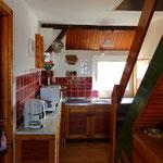 Die kleine Küche im 1. Stock