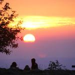 Sonnenuntergang am Großen Feldberg
