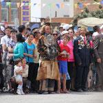 Militärparade mit Adlerjäger in Olgii