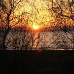 Sonnenuntergang am See Sirava,  Slowakei