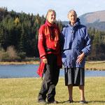 Wendla und Stephanie bei den Buckelwiesen