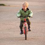 Glen als Radfahrer