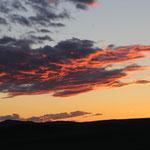 gleichzeitig Sonnenuntergang