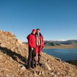 Wir zwei auf dem Berg am Tsagaannuur