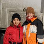 Tolunay und Stephanie beim Abschied