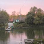 Fähre über den Fluss Vah, 80 km östl. Bratislava