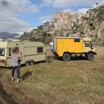 Caravan herausziehen