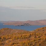 Baikal im Abendlicht, Maloe More, kleines Meer
