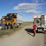 französische Familie mit MAN Truck unterwegs