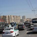 Stadtverkehr in Ulaan Bathaar