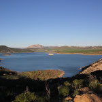 morgens am Standplatz, Embalse de Guadalhorce